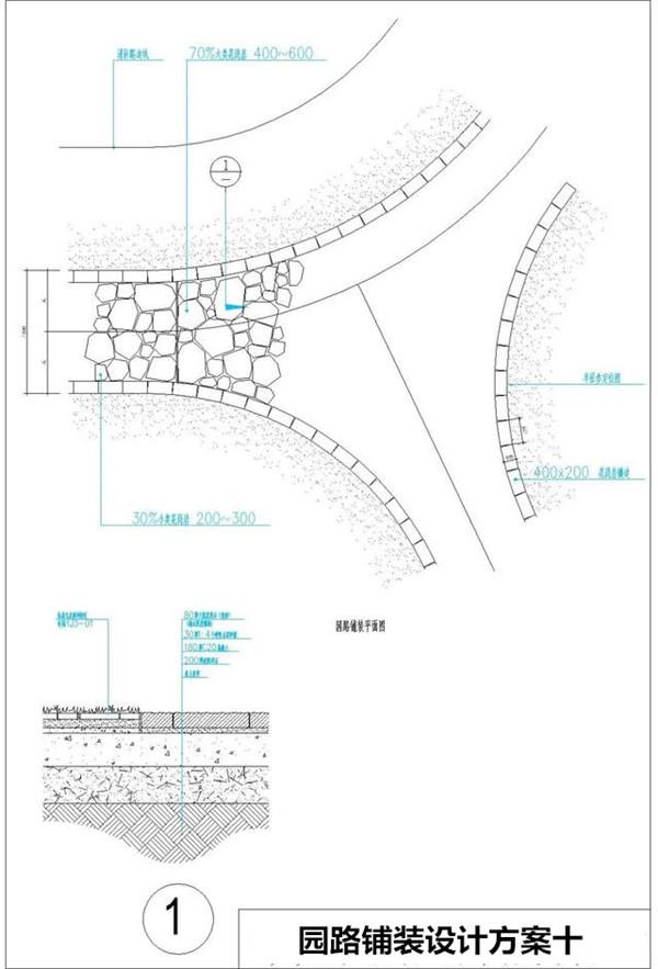 園林景觀石材道路的設計方案及施工方案